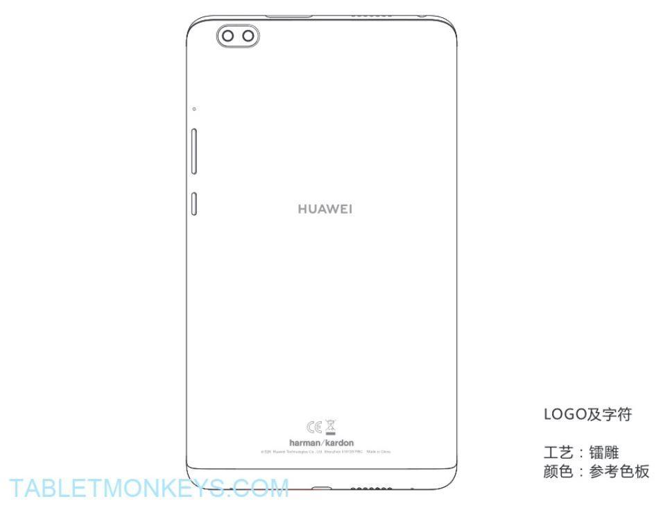 Esquema trasero del Huawei MediaPad M5 8