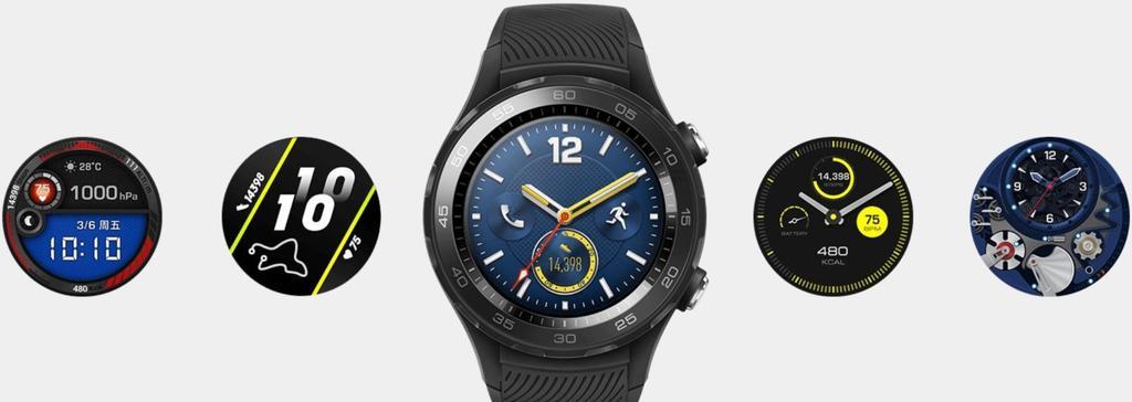 Diseño y esferas del Huawei Watch 2 2018