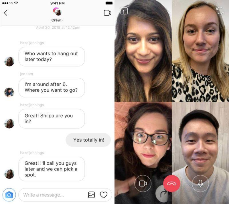 Videollamadas en Instagram