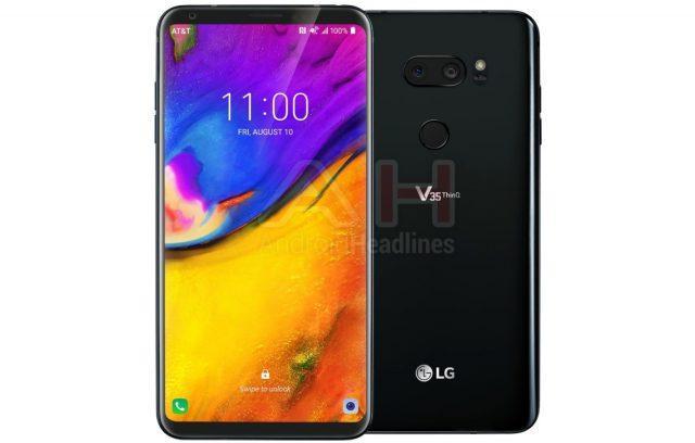 Posible diseño del LG V35 ThinQ