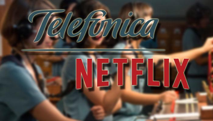 Logotipos de telefónica y Netflix
