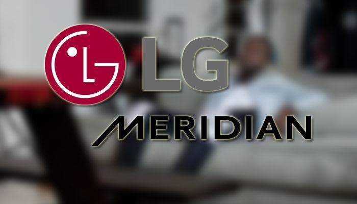 Logotipo de LG y Meridian