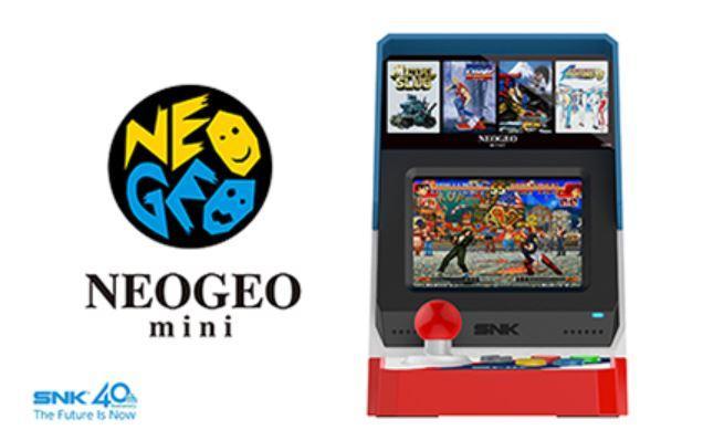 Imagen frontal de la consola Neo Geo Mini
