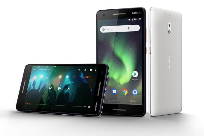 diseño del teléfono Nokia 2.1
