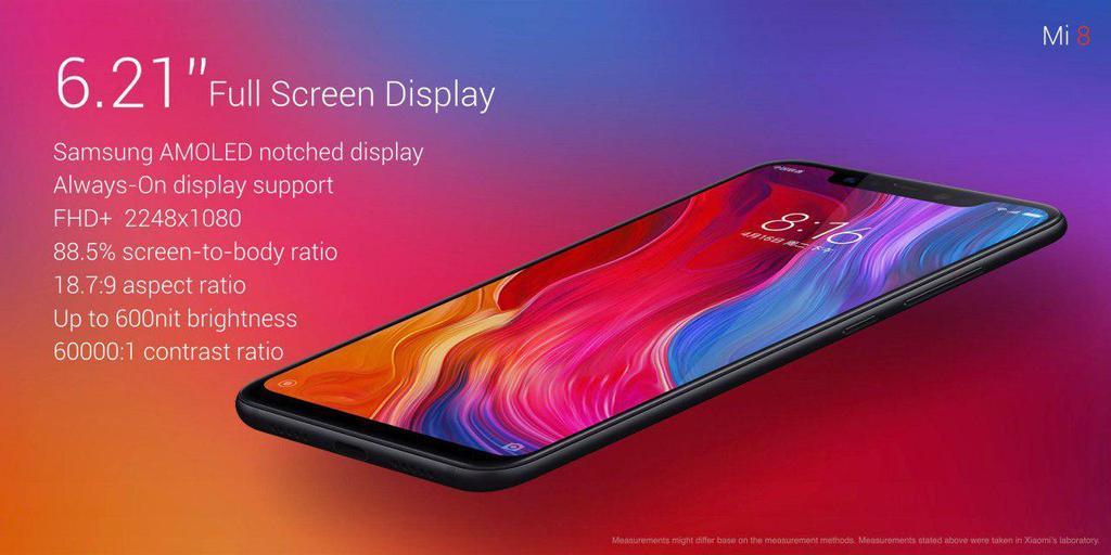 Pantalla del Xiaomi Mi 8