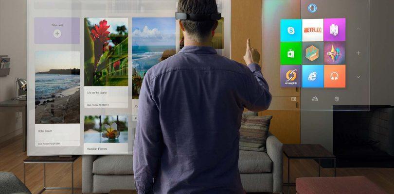 Utilizando realidad mixta en una casa