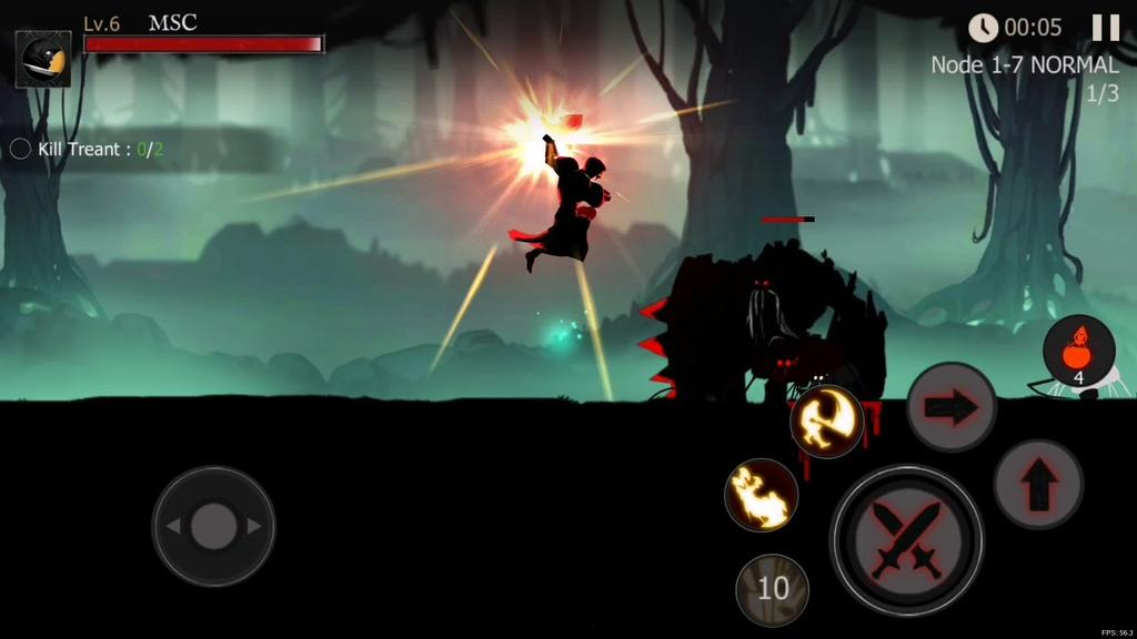 Juego Shadow of Death: Stickman Fighting
