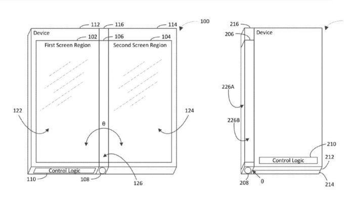 Diseño del teléfono plegable de Microsoft