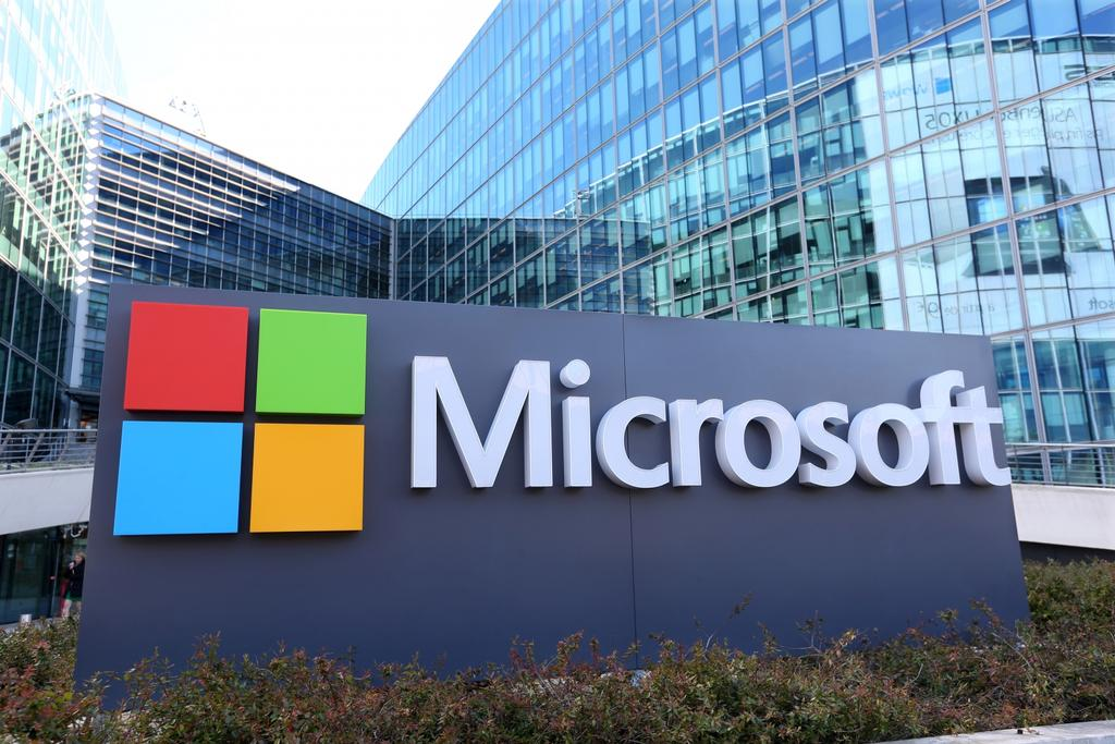 Logotipo de Microsoft y windows 10