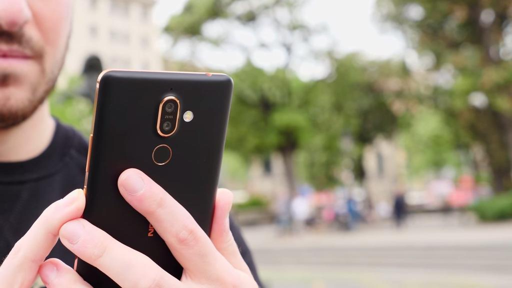 Lector de huellas del Nokia 7 Plus