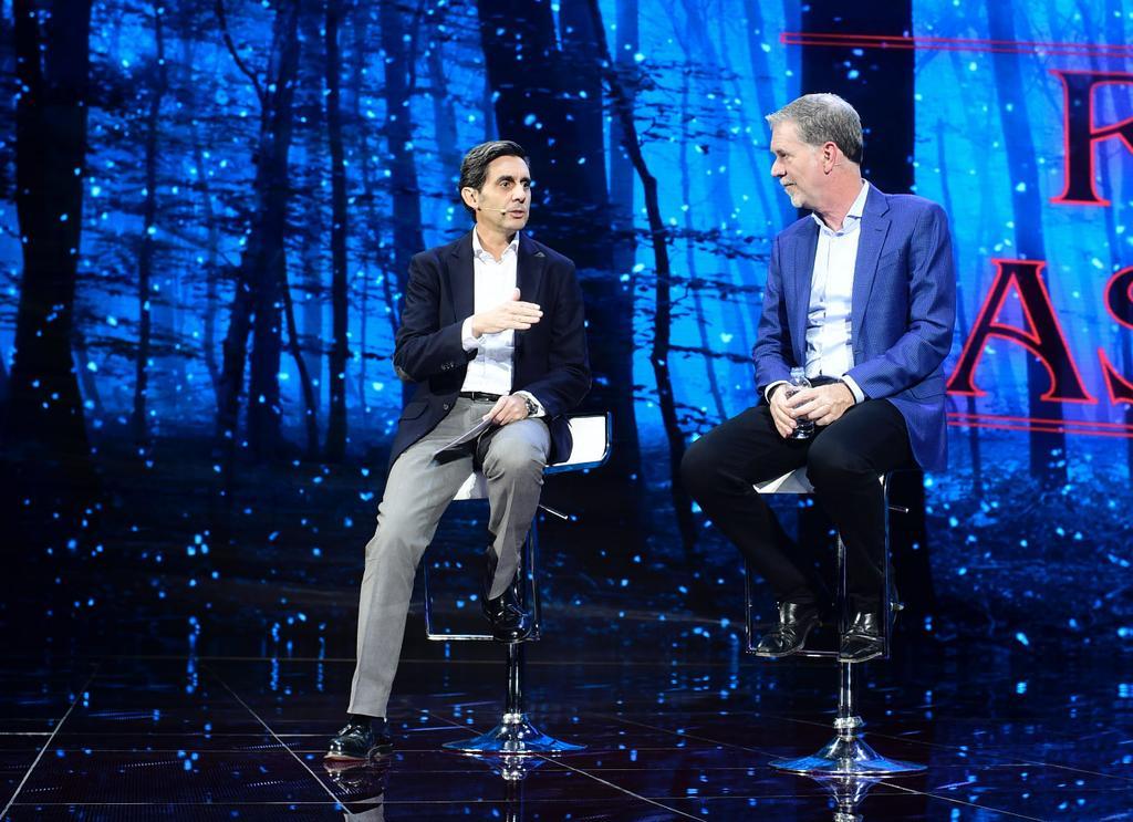 Presidentes de Telefónica y Netflix