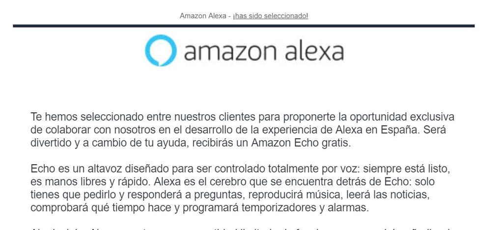Correo pruebas Alexa en Español