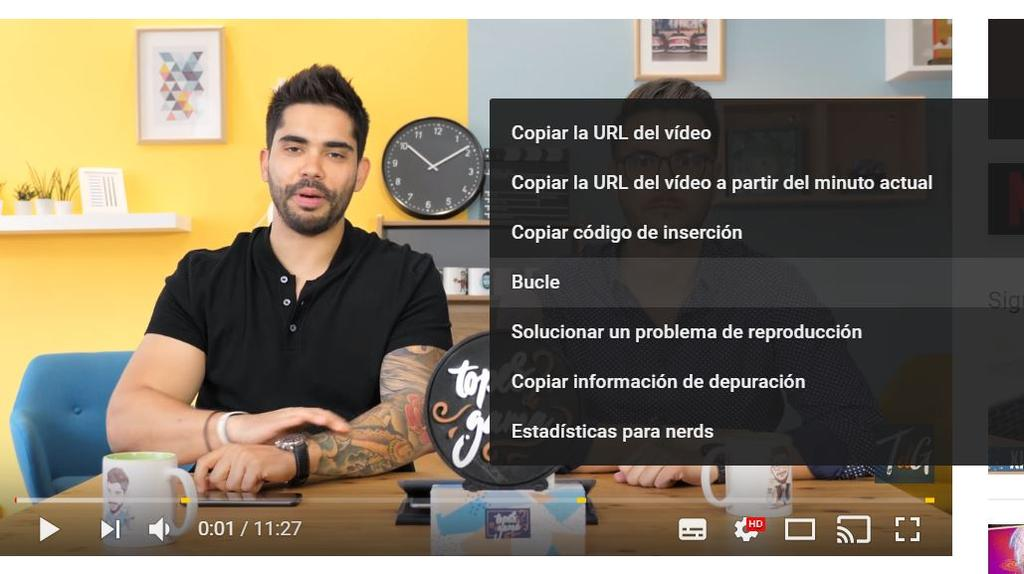 Uso de bucle en YouTube