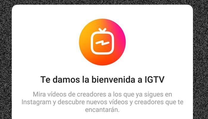 Inicio de IGTV de Instagram