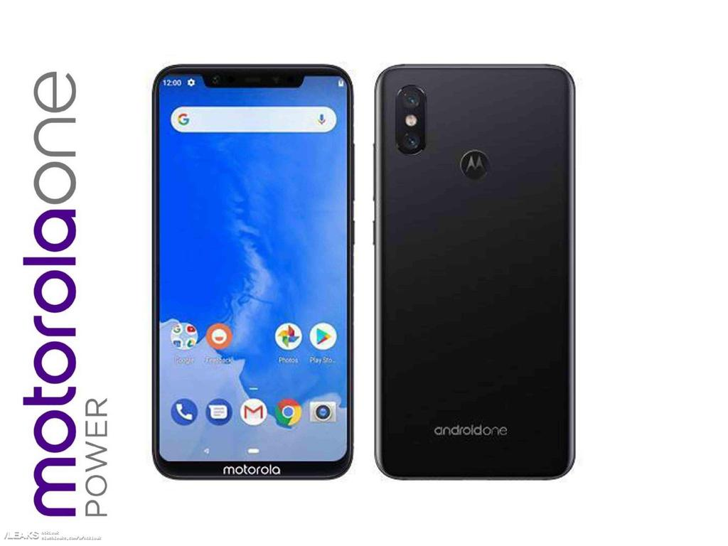Imagen frontal del Motorola One Power