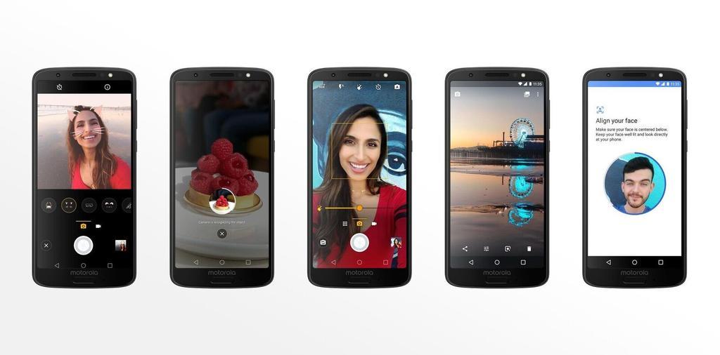 Opciones de la aplicación cámara del Moto G6