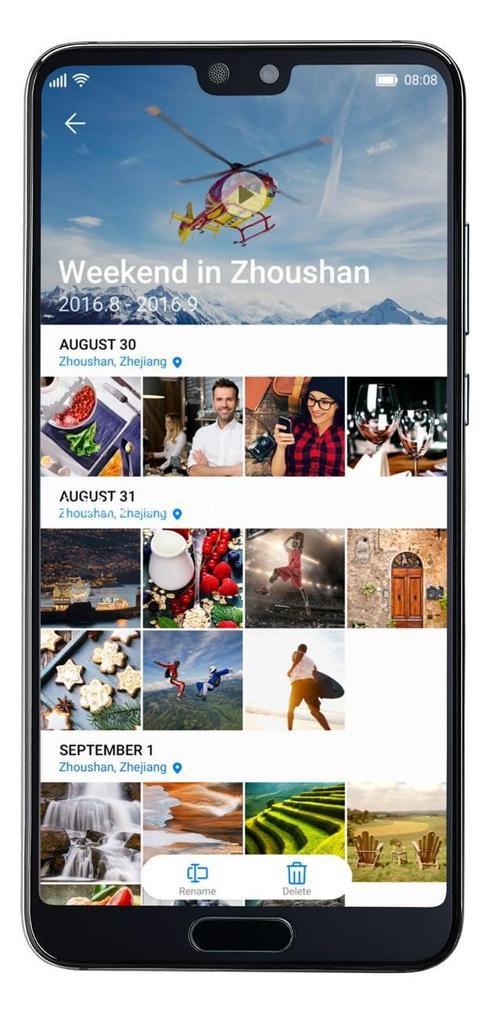 Organiar imágenes en el Huawei P20 Pro