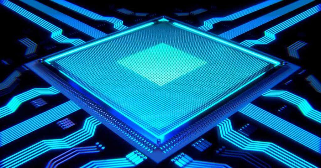 Procesador de color azul