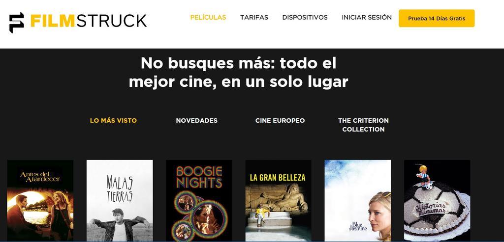 Web en español de FilmStruck