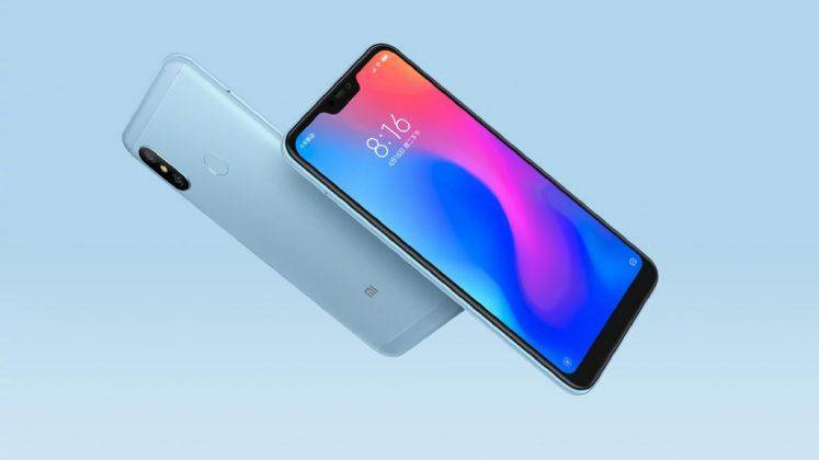 Xiaomi Redmi 6 Pro de color azul