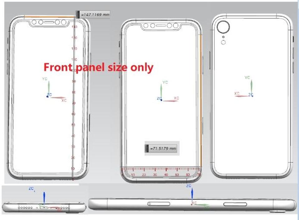 Diseño del iPhone 2018 con pantalla de 6,1 pulgadas