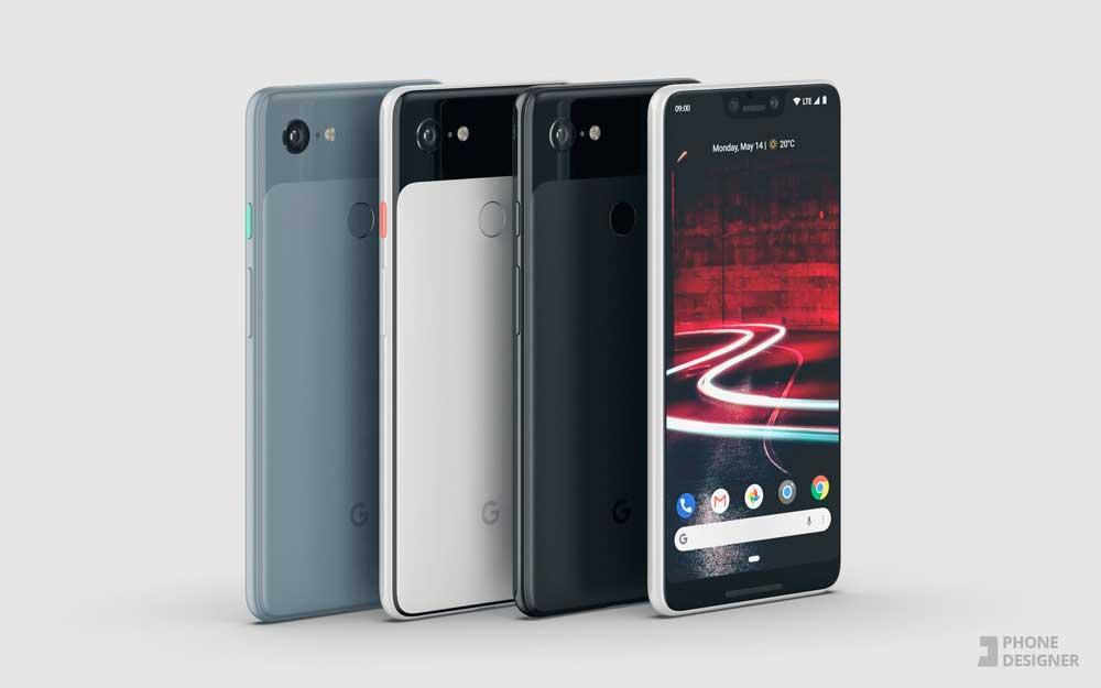 conceptos del Google Pixel 3 XL