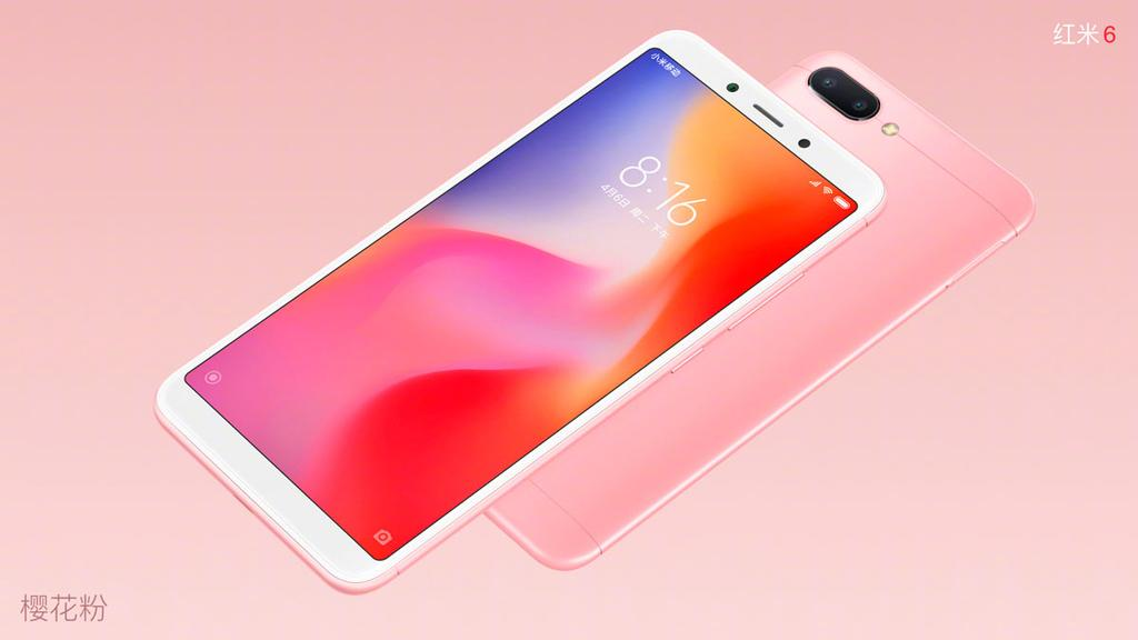 Xiaomi Redmi 6 de color rosa