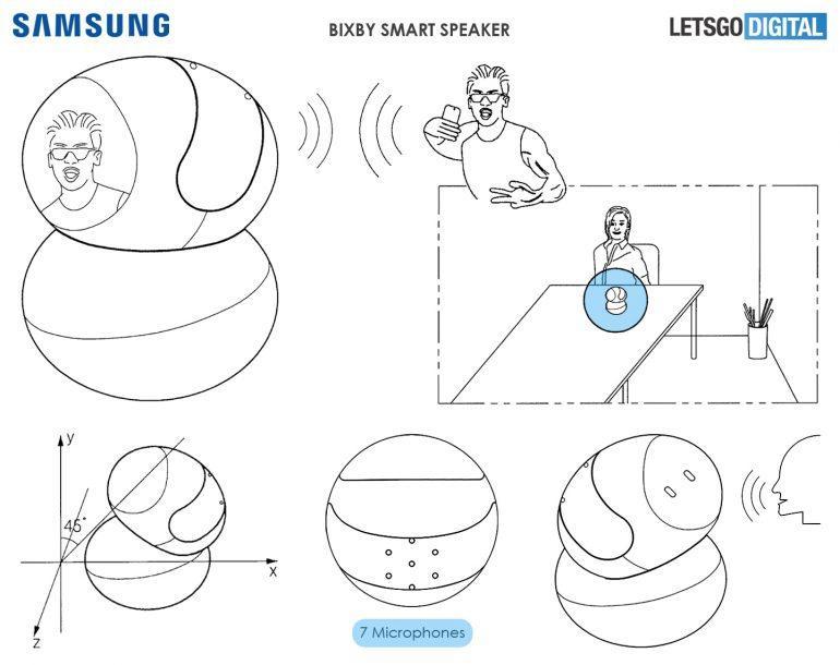 Posible diseño del altavoz inteligente de Samsung