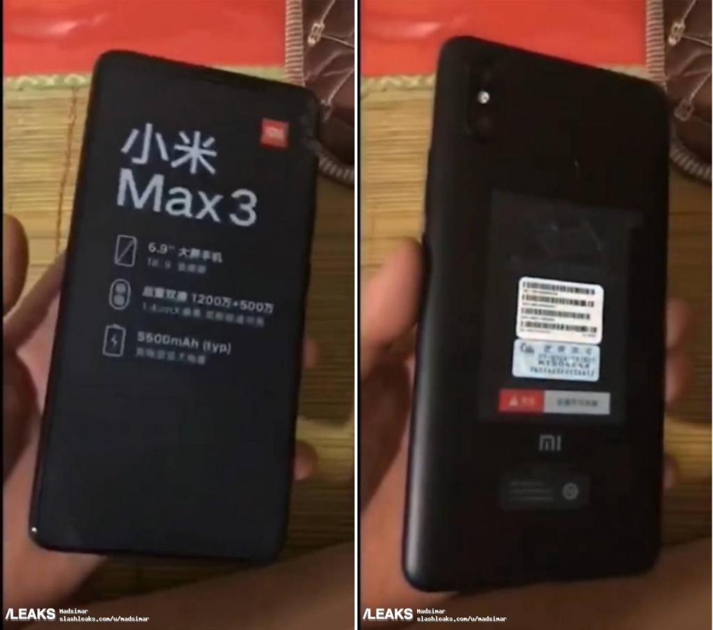 Diseño completo del Xiaomi Mi Max 3