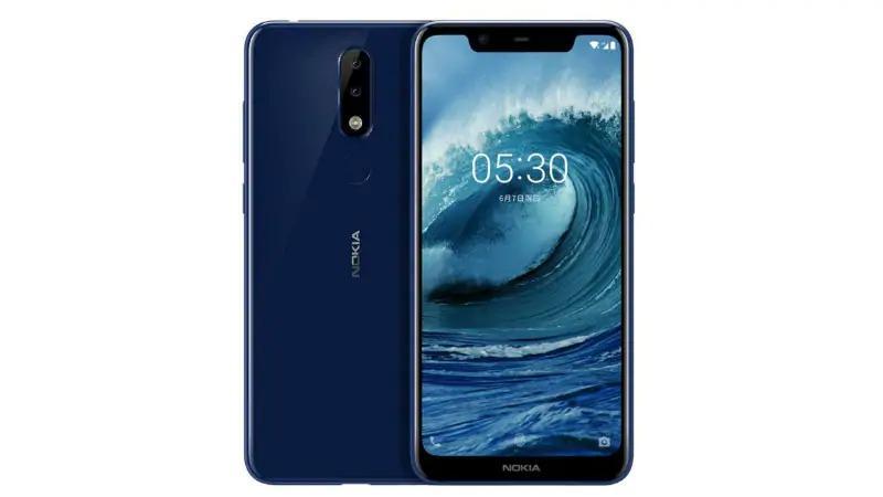 Imagen frontal del Nokia X5