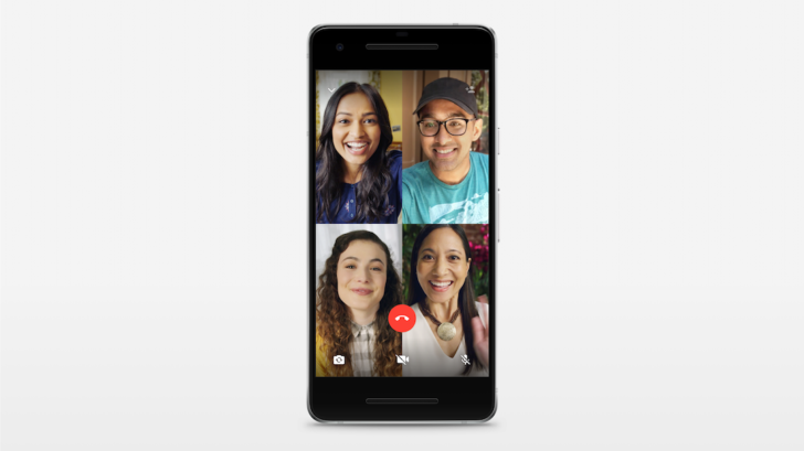 Interfaz de llamadas en grupo en WahtsApp