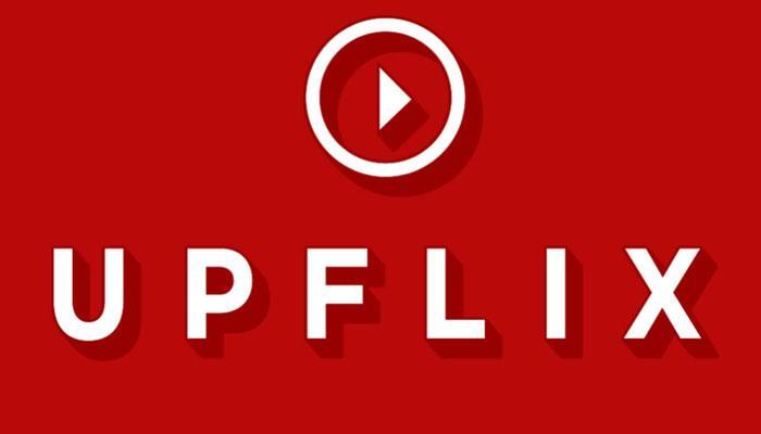 Logotipo de Upflix para Netflix