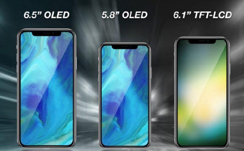 Nuevos tres modelos iPhone de 2018