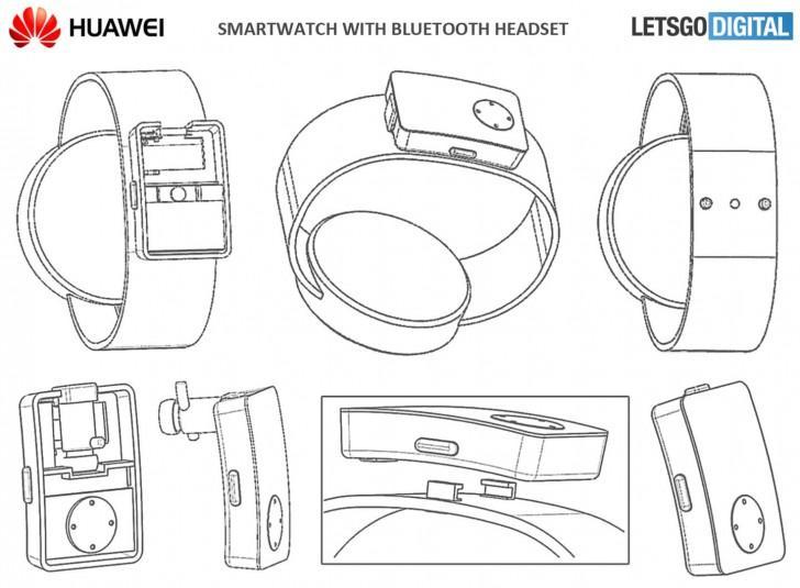 manos libres en la correa smartwatch huawei patente