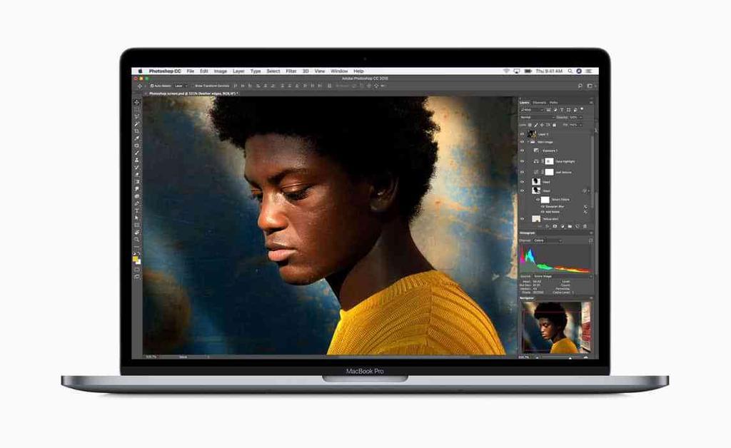Diseño del MacBook Pro de 2018