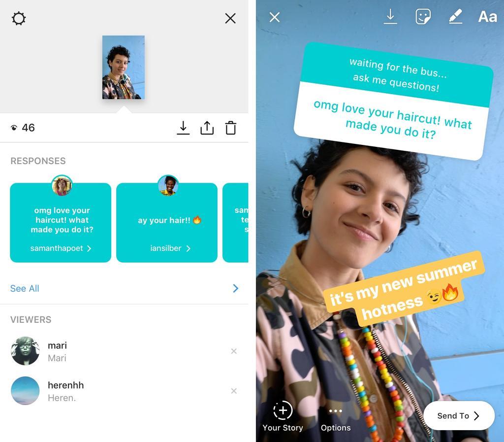 añadir preguntas a Stories de Instagram