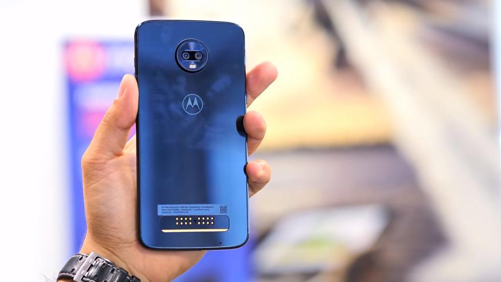 Imagen trasera del Moto Z3 Play