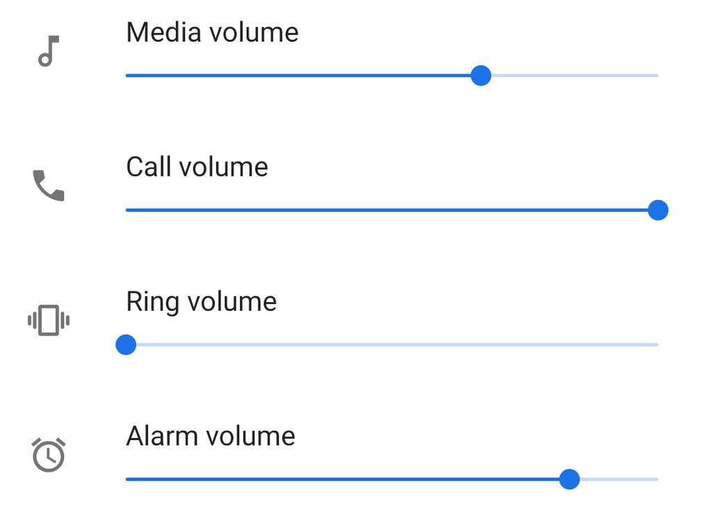 Volumen llamadas en Android P