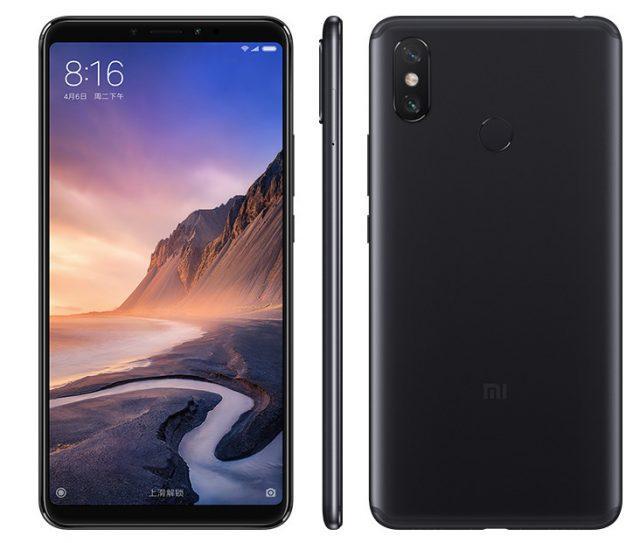 Diseño del Xiaomi Mi Max 3 de color negro