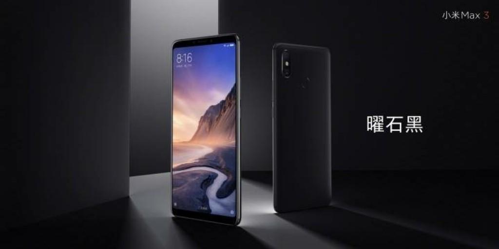 Xiaomi Mi Max 3 de color negro