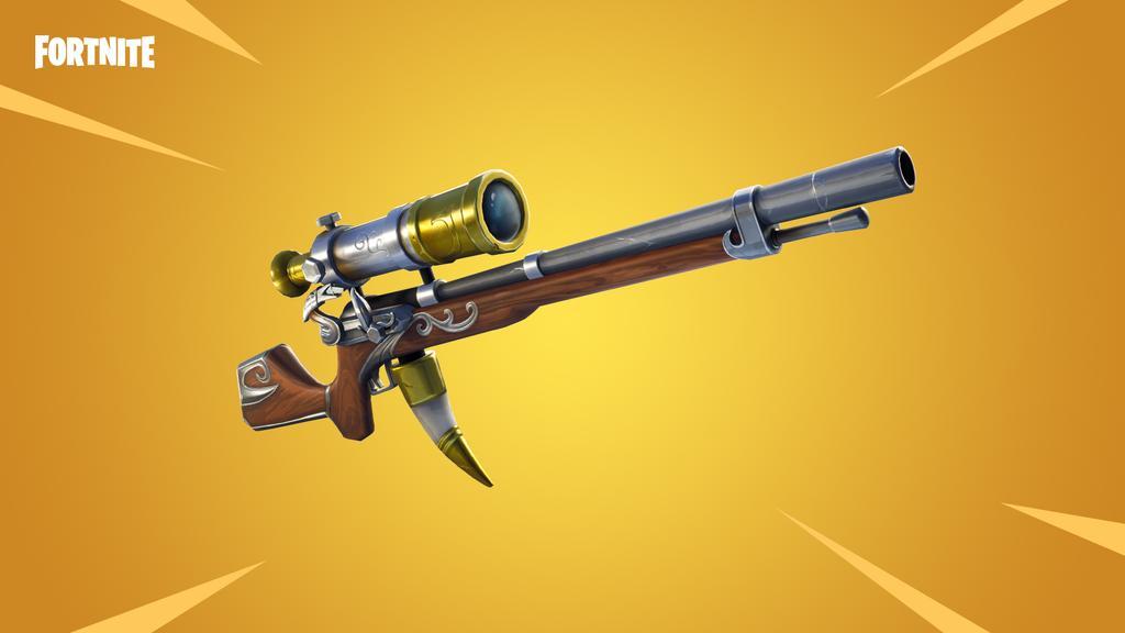 Fusil de tirador Catalejo en la última actualización de Fortnite