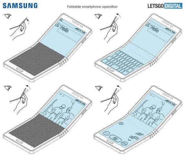Patente pantalla Samsung Galaxy X