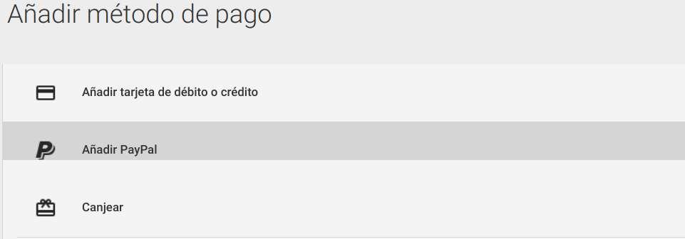 Paso para utilizar una cuenta de PayPal para comprar en Play Store
