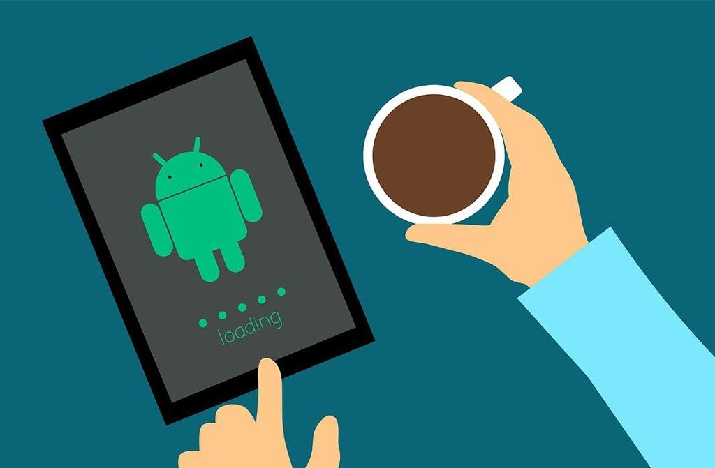 Logotipo de Android en un tablet