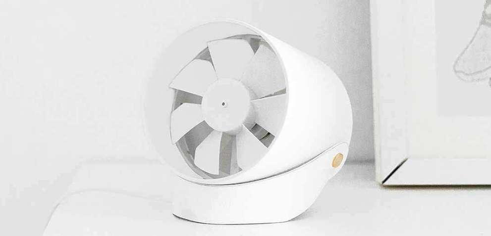ventilador Xiaomi Youpin VH de color blanco