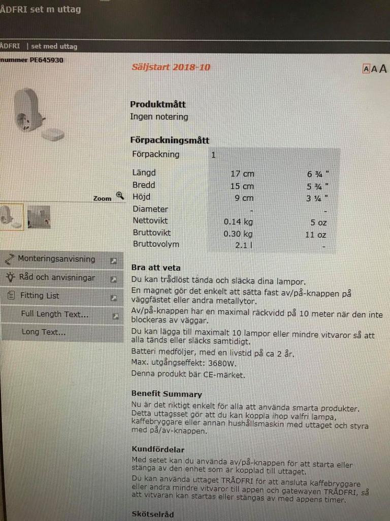 Enchufes inteligentes de IKEA listados