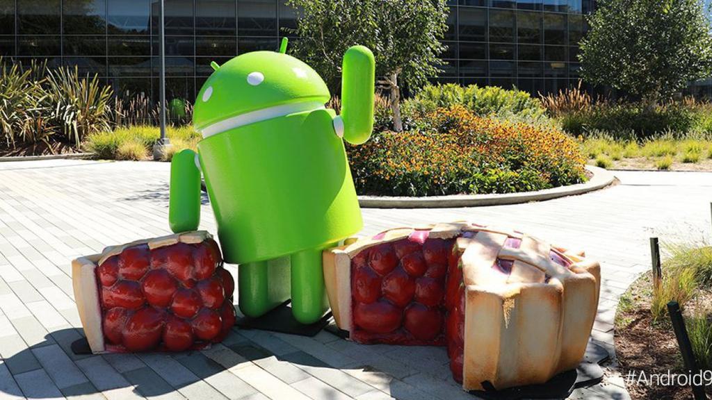 Estatua del sistema operativo Android Pie