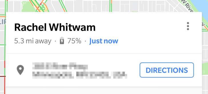 Google Maps con porcentaje de batería