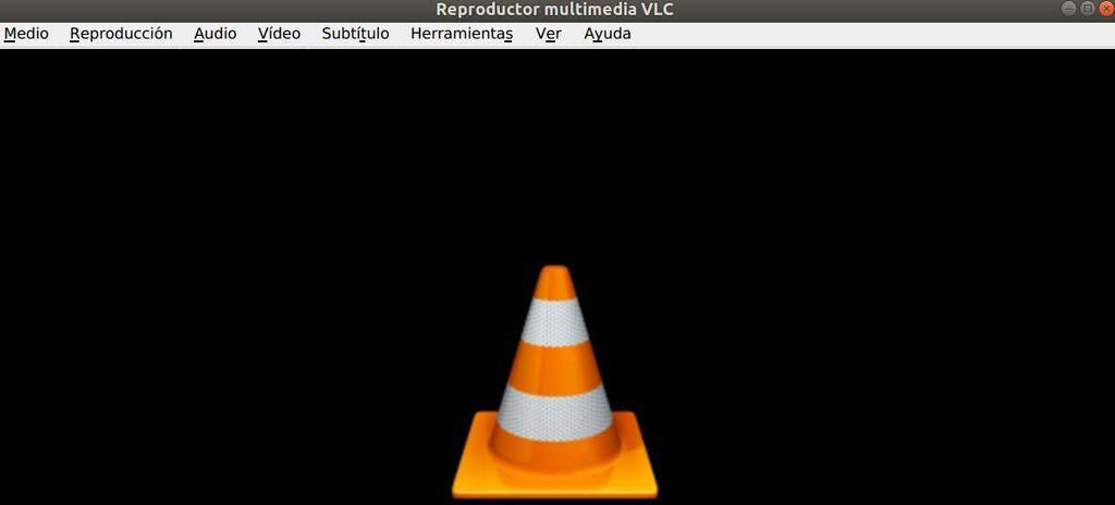 Interfaz básica del reproductor multimedia VLC
