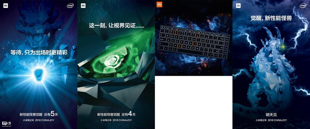 Póster del nuevo portátil Xiaomi Notebook Pro